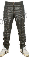 Real Leather Laced Jeans Heavy Duty PUNK GOTH EMO LEVI 501 STYLING  MOST SIZES