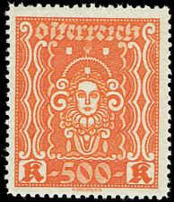 Scott # 293 - 1922 - ' Symbols of Art & Science '