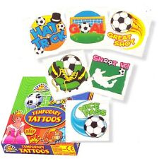 24 x Cartoon Football Design Temporary Tattoos - Great Party Bag Fillers!