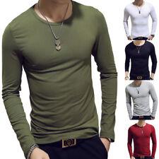 Hombre Entallado Manga Larga Camisetas informal jersey