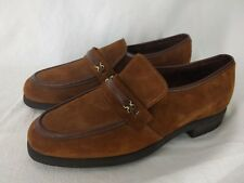 21ec4b6c6cb29 Hush Puppies Rust Brown Suede Leather Buckle Slip On Loafers~Men's ...