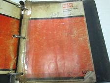 Case Heavy Equipment Uni Loader Parts Catalog & Owners Manual OEM Book Used ***