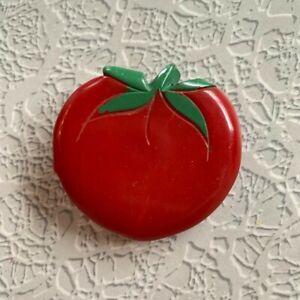 Vintage Large Bakelite Button Realistic Tomato