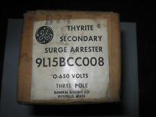 Ge 9L15Bcc008 Thyrite Secondary Surge Arrestor, 3 Pole, 0-650 Volts, New