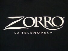 Telemundo Zorra La Telenovela Soap Opera Logo Black Cotton T Shirt Size XL