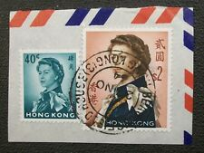 1964 HONG KONG Cover Fragment Beaconsfield House Cancel CHINA STAMP Used
