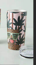 Anthropologie Kendra Dandy Tropical Travel Tumbler Nwt  Inclusivity Sold Out