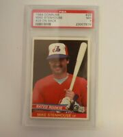 1984 Donruss Mike Stenhouse #29 On Back #29 PSA 7 Rookie Card