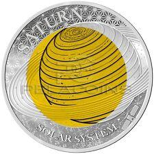 Palau 2017 2$ Saturn Niobium - Solar System Silver Coin