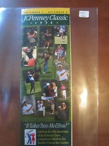 1996 JCPENNEY CLASSIC AUTOGRAPHED GOLF BOOKLET NRMINT CATHY FORBES