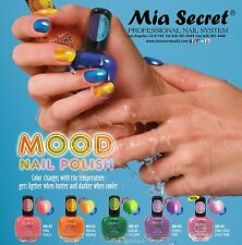 5 Mia Secret Mood Color Changing Nail Polish Lack MD * Made in USA *