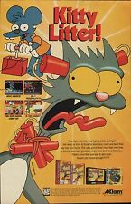 Vtg. 1994 Simpsons ITCHY & SCRATCHY GAME  Nintendo SNES Sega video game print ad