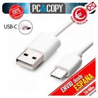 Cable micro USB tipo C 3.1 datos y carga Blanco MacBook Samsung Xiaomi Huawei