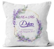 Personalised Any Text Name Cushion Floral Design Mothers Day Wedding Gift 68