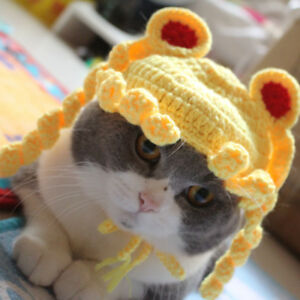 Pet Kitten Cat Sailor Moon Blond Beauty Woolen Cap Knitted Cosplay Hat Holiday
