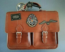Harry Potter Damen Satchel Tasche Schultertasche Handtasche Braun Hogwarts Bag