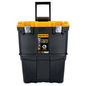 Tough Master Heavy Duty Rolling Storage Toolbox & Organiser Box