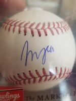 francisco mejia signed baseball autographed romlb ball auto san diego padres mlb