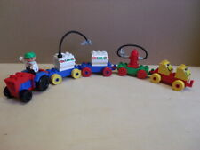 Lego Duplo Trecker Traktor Gespann Lastzug Octan Zubehör Anhänger Konvolut Figur