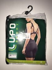 LUPO Women's Macaquinho Open Air Seamless Unitard BLACK Size G NEW Tags Yoga