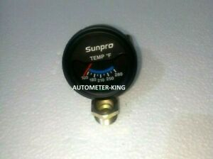 Sunpro 2 Inch Electrical Water / Oil Temperature Gauge Kit New  100-280 F