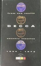 DECCA from the VAULTS-COUNTRY CLASSICS 1934-1973-THREE CASSETTES BOX SET w BOOK