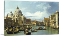 The Entrance To The Grand Canal - Venice 1730 Canvas Art Print by Canaletto