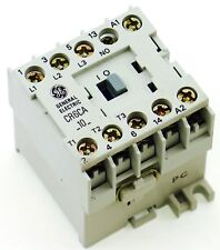 New GE Miniature Din Rail Magnetic Contactor CR6CAH 24VAC COIL CA4-5-10-24