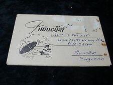 Postcard - C. 1960s letter/card with 10 views of Uruguay