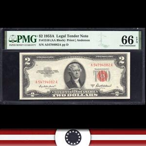 GEM 1953-A $2 LEGAL TENDER NOTE PMG 66 EPQ Fr 1510  A54794082A