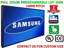 """Outdoor 10mm Programmable Full Color Led Sign 25"""" x 25"""" Business Video Board"""