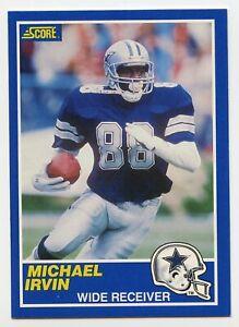 1989 Score Football - Rookie - #18 - Michael Irivn - Dallas Cowboys