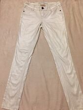 Red Camel Ava Women's Skinny Premium Denim jeans size 5 white shimmering (T16)