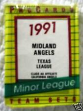 1991 MIDLAND ANGELS TEAM SET PC TIM SALMON DAMON EASLEY