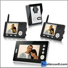 "Wireless Video Door Phone with Triple Receivers ""Triple Vision Guardian"""