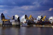 799072 Thames Barrera de agua de alta Londres Inglaterra A4 Foto Impresión