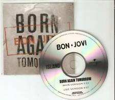 BON JOVI - BORN AGAIN TOMORROW - NEW TWO TRACK BRAZILIAN  PROMO CD