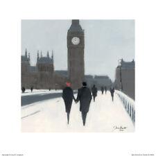 STUNNING LONDON BIG BEN FINE ART POSTER PRINT #301 SNOWY LONDON A1 WALL ART