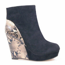 High (3 in. and Up) Wedge Dress Boots for Women