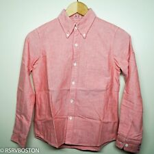 Bapy by A Bathing Ape Pink/ Red Embroidered Oxford Button Down Shirt Short Bape
