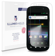 iLLumiShield Phone Screen Protector w Anti-Bubble/Print 3x for Google Nexus S