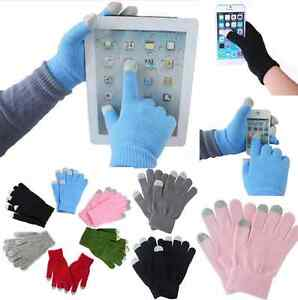1pair Soft Winter Men Women Touch Screen Gloves Texting Capacitive Smartphone ~