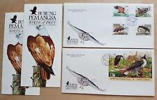 1996 Malaysia Birds of Prey 4v Stamp + Mini-Sheet on 2 FDC (Kuala Lumpur Cachet)