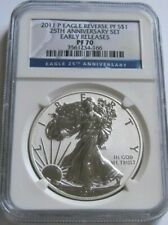 2011-P NGC PF70 Reverse Proof AMERICAN SILVER EAGLE COIN ~Early Releases~