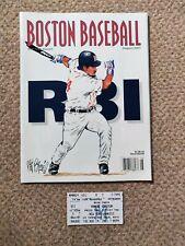 More details for boston baseball magazine august 2001 with ticket yankees vs devil rays