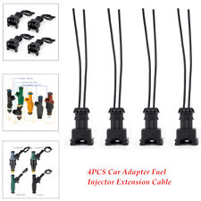 4×Car Adapter Fuel Injector Connector Wiring Cable Plugs Clips EV1 Interface KIT