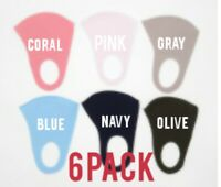 Breathable Fashion Cool Unisex Face  Washable Reusable Mask - 6 Pack Mix