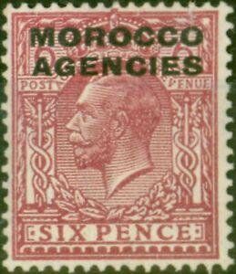 Morocco Agencies 1921 6d Reddish Purple SG48 Fine & Fresh Mtd Mint