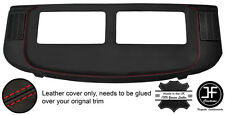 RED STITCH REAR PARCEL SHELF REAL LEATHER COVER FOR MERCEDES S CLASS SEC W126