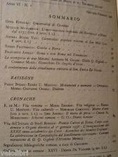 STUDI ROMANI. Rivista bimestrale. Anno VI - N. 1 Gennaio-Febbraio 1958